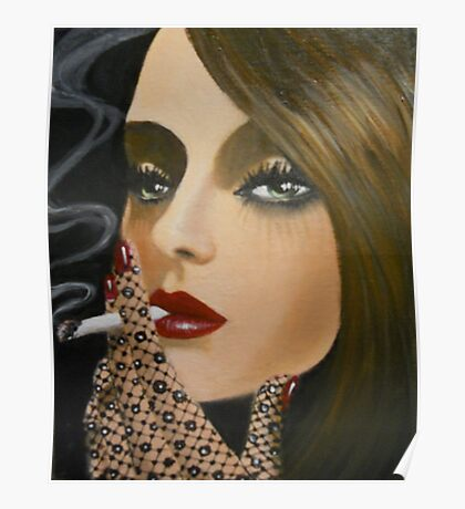 A LADY WITH A CIGARETTE Poster