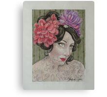 Lydia The Tattooed Lady Canvas Print