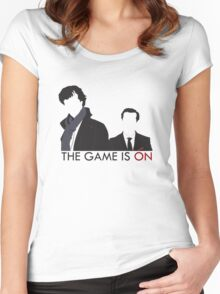 The Game is On Women's Fitted Scoop T-Shirt