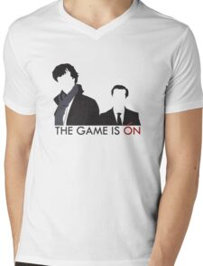 The Game is On Mens V-Neck T-Shirt