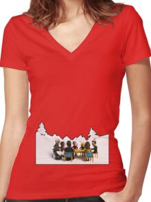 The Study Group's Winter Wonderland - Style B Women's Fitted V-Neck T-Shirt