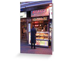 Bagel Kebab Stand, London Greeting Card