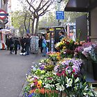 Flower Stand, London by Carol Singer
