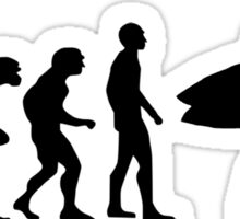 Surf evolution Sticker