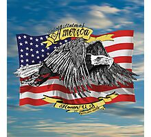 American Eagle and Flag Photographic Print