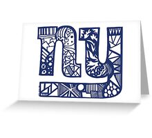 Giants_Blue Greeting Card
