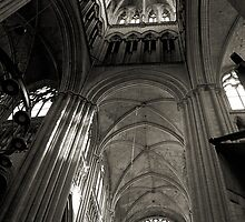 Vaults of Rouen Cathedral by RicardMN