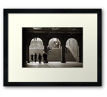 Under Bethesda Terrace Framed Print