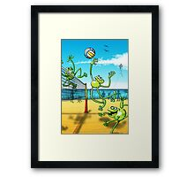 Olympic Volleyball Frog Framed Print