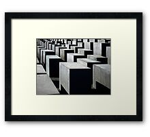 Memorial to the Murdered Jews of Europe Framed Print