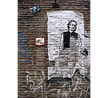 A character on the wall Photographic Print