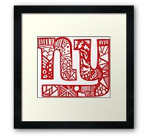 Giants_red Framed Print