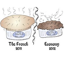 French souffle' economy blows over into recession Photographic Print