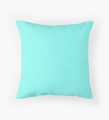 Modern girly robin egg Blue turquoise tiffany blue Throw Pillow
