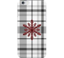 ABOSAA Inspired Plaid w Red Snowflake iPhone Case/Skin