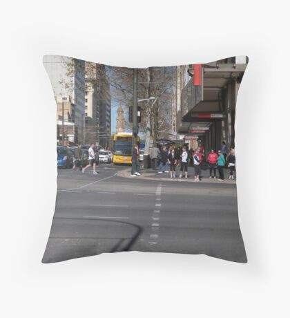 Cnr. King William Rd. & North Terrace, Adelaide CBD S.A. Throw Pillow