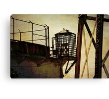 Sentry box in Alcatraz Canvas Print
