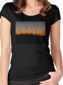 Night Slips Into the Dunes Women's Fitted Scoop T-Shirt