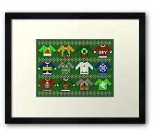 The Ugly 'Ugly Christmas Sweaters' Sweater Design Framed Print