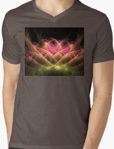 Sacred Lotus Mens V-Neck T-Shirt
