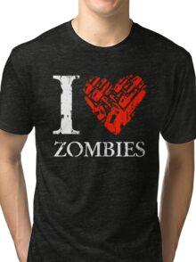 I Love Zombies (Version 02) Tri-blend T-Shirt