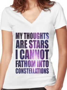 The Fault in our Stars - Stars Quote Women's Fitted V-Neck T-Shirt