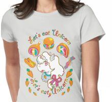 Let's Eat, Unicorn  Womens Fitted T-Shirt