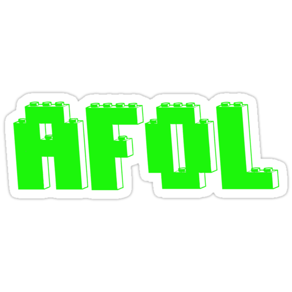 AFOL IN GREEN BRICKS by Customize My Minifig by ChilleeW