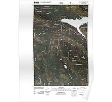 USGS Topo Map Washington State WA Wallace Lake 20110428 TM Poster