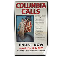 Columbia calls Enlist now for US Army 002 Poster