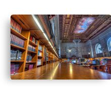 Quiet time in the New York Public Library. Canvas Print