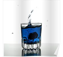Blue Shot Poster