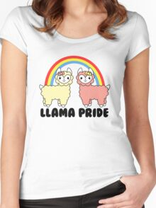 Adorable Llama Pride Black Lettering Women's Fitted Scoop T-Shirt