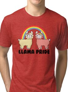 Adorable Llama Pride Black Lettering Tri-blend T-Shirt