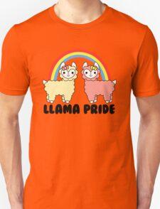 Adorable Llama Pride Black Lettering Unisex T-Shirt