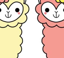 Adorable Llama Pride Black Lettering Sticker