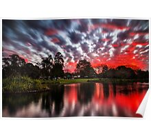 Lake Annand Toowoomba Sunset Poster