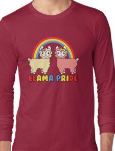 Adorable Llama Pride Rainbow Lettering Long Sleeve T-Shirt