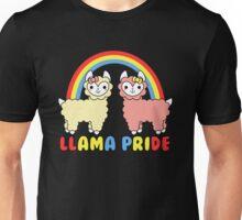 Adorable Llama Pride Rainbow Lettering Unisex T-Shirt