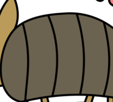 Adorable Kawaii Armadillo with text Sticker
