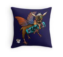chicken goat Throw Pillow