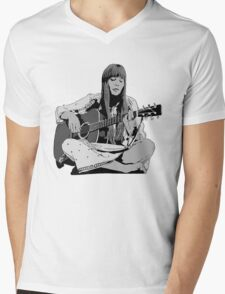 Joni Mitchell - Shaded Mens V-Neck T-Shirt