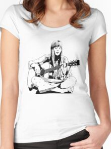 Joni Mitchell - Line Women's Fitted Scoop T-Shirt