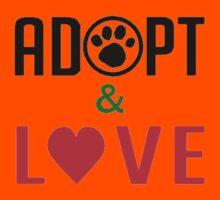 Adopt & Love (T-Shirt & Sticker ) Kids Clothes