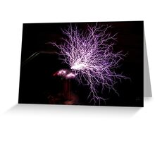 Tesla Coil Plasma Fire Greeting Card