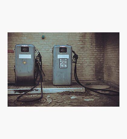 Retro Fuel Pumps Photographic Print