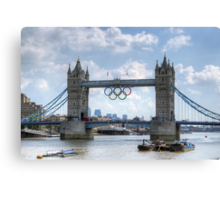 Tower Bridge during the Olympics Canvas Print