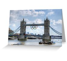 Tower Bridge during the Olympics Greeting Card
