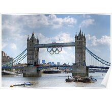 Tower Bridge during the Olympics Poster