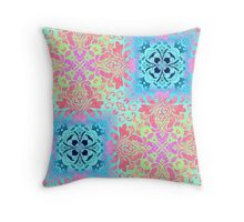 modern Colorful Bohemian Paisley damask swirls Throw Pillow